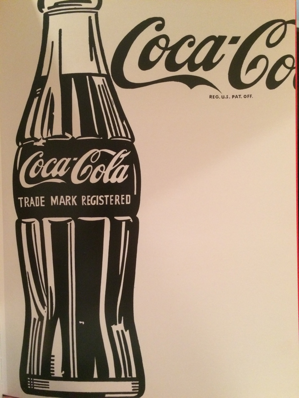 Coca-Cola print by Andy Warhol, 1962
