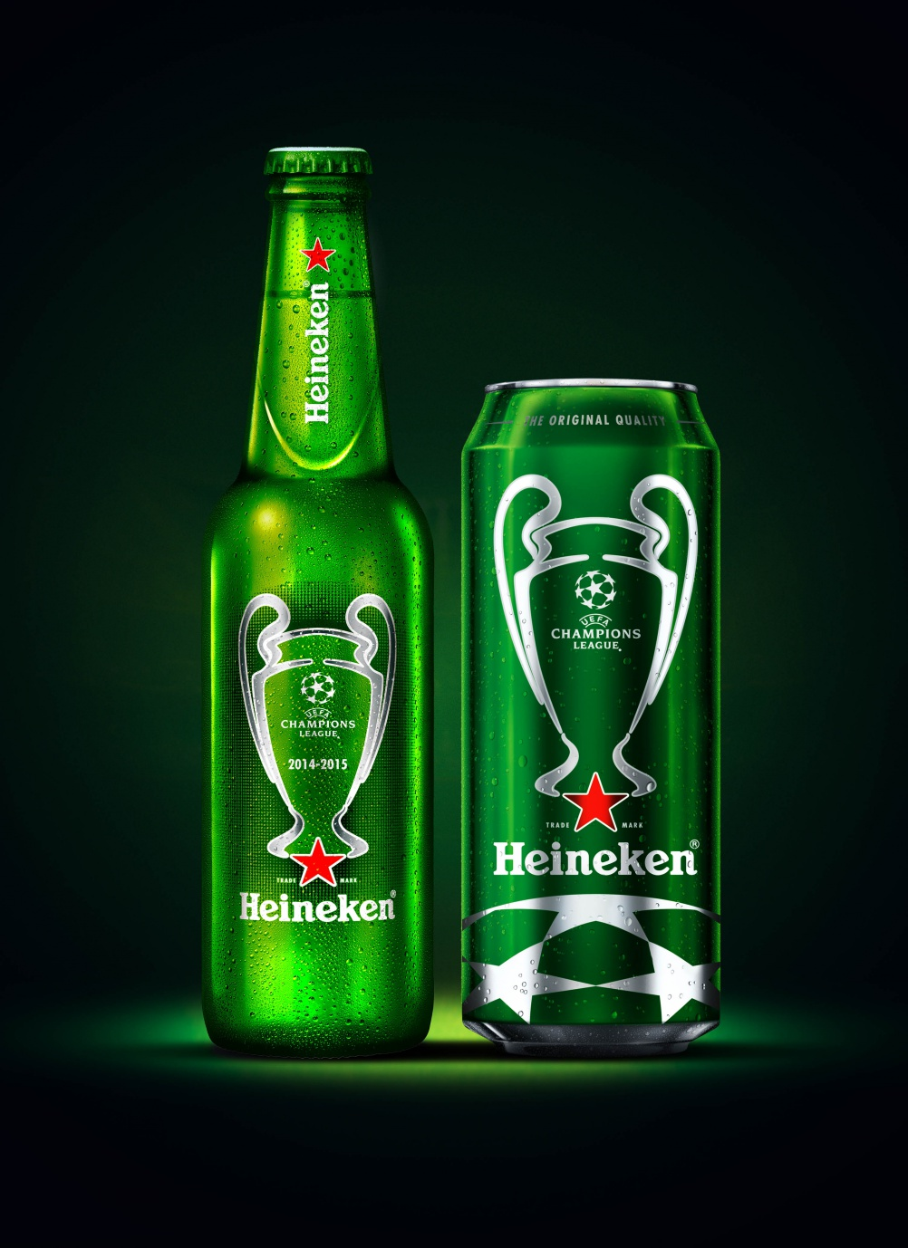 Heineken Champions League packaging, by Bulletproof