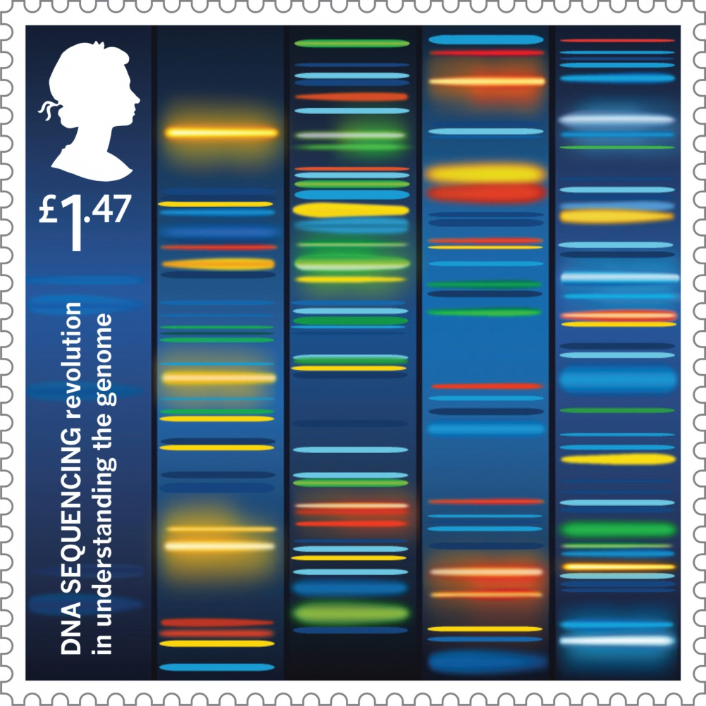 DNA Sequencing stamp, by GBH