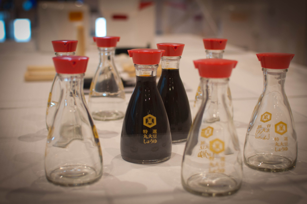 The Kikkoman soy sauce bottle