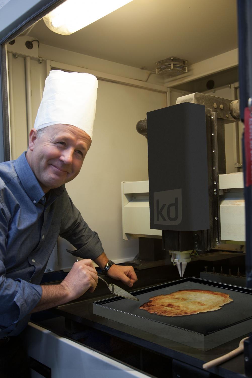Making the pancakes