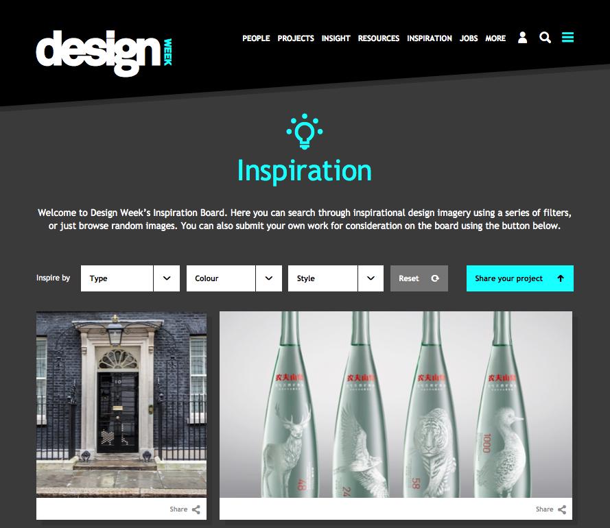 Design Week's Inspiration Board