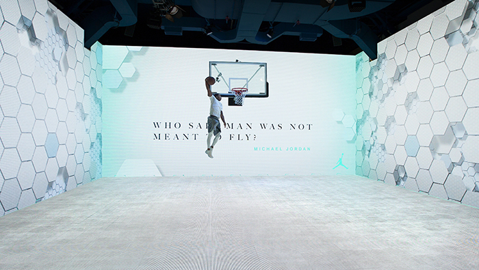 Interactive basketball court for Jordan, by AKQA