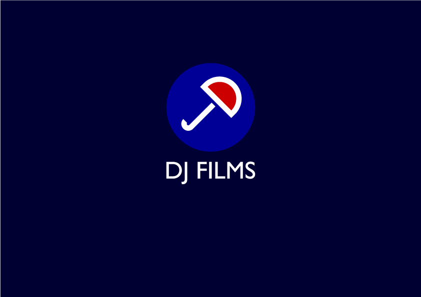 "New identity for British independent film company DJ Films, by Jon Daniel. The brand identity uses the ""D"" and the ""J"" from the company name to form an umbrella, referencing the all-encompassing nature of film production."