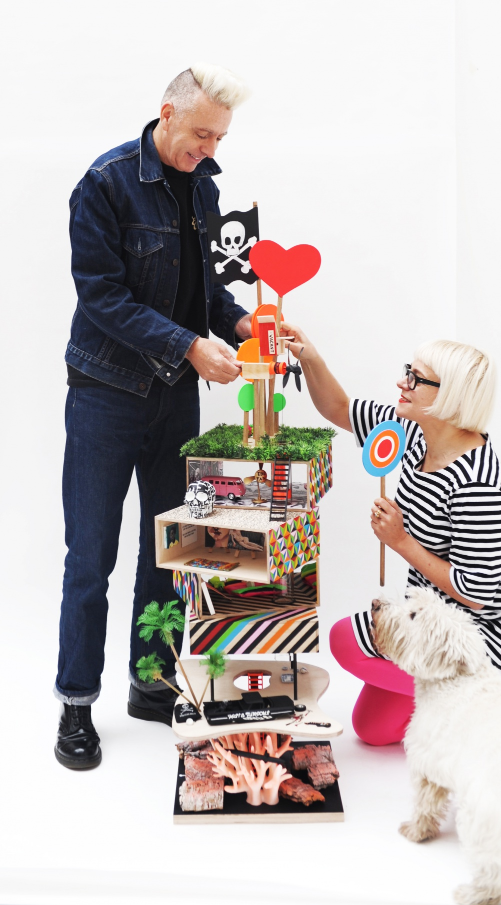 Morag Myerscough and Luke Morgan - founders of Supergroup