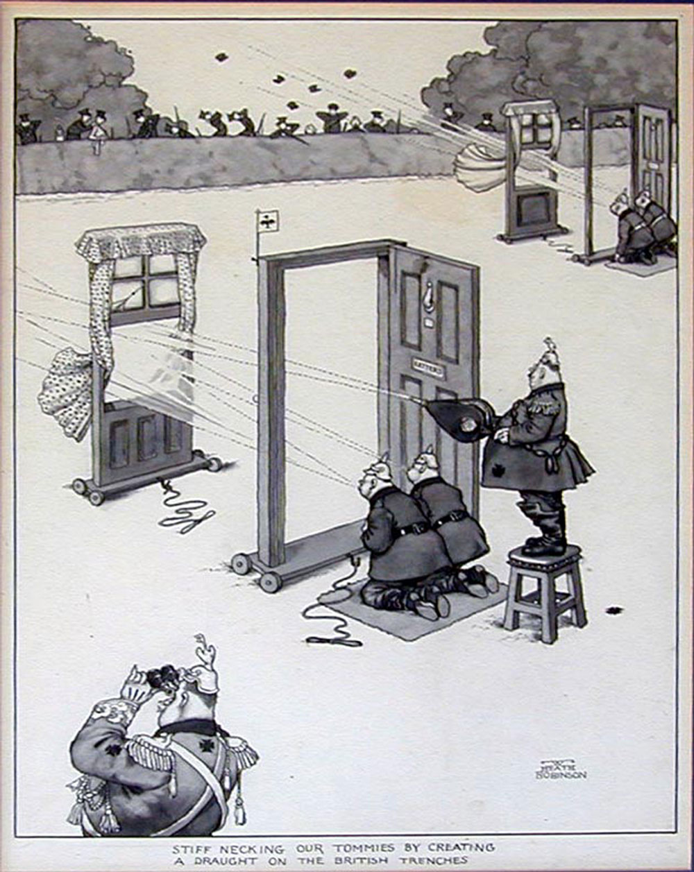 Stiff-necking our Tommies - William Heath Robinson