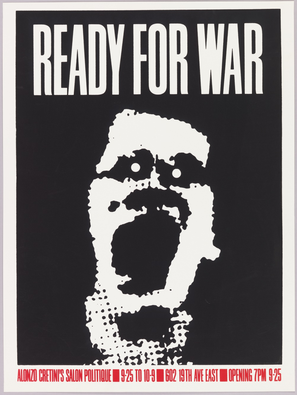 Ready for War by Art Chantry, 1982