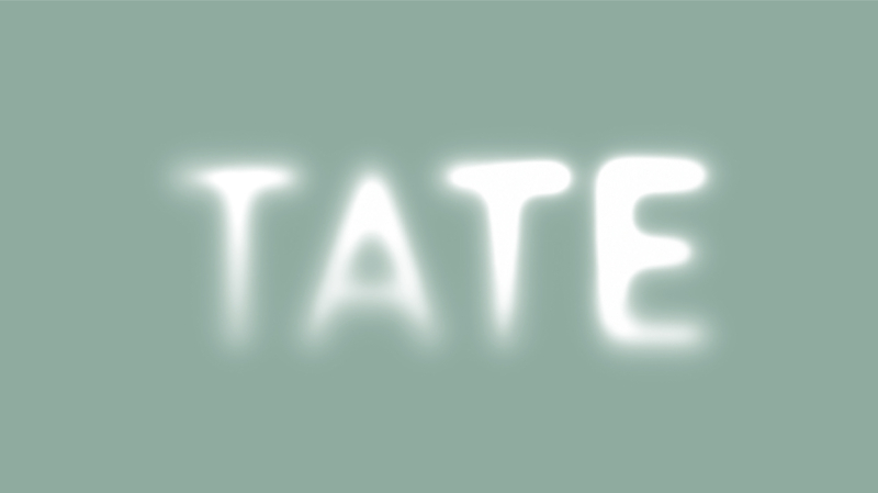 The current Tate visual identity, by Wolff Olins