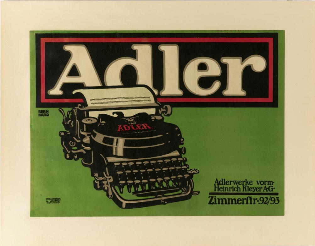 Adler Typewriter by Lucian Bernhard, 1909-10