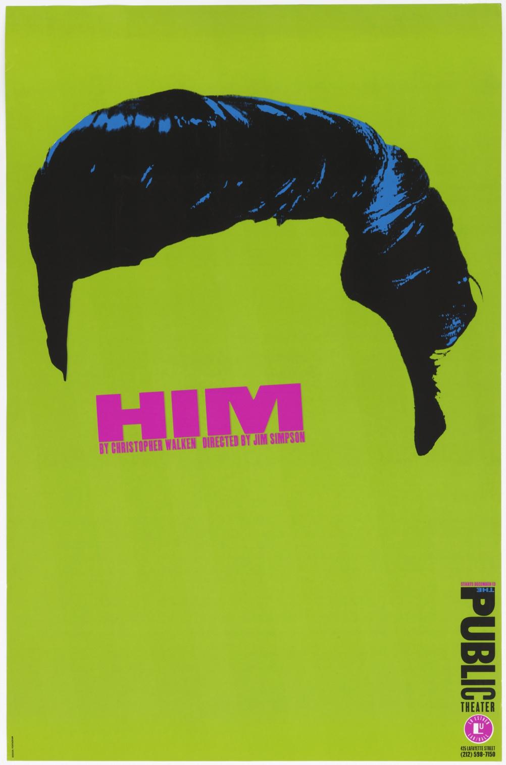 Him by Paula Scher, 1994