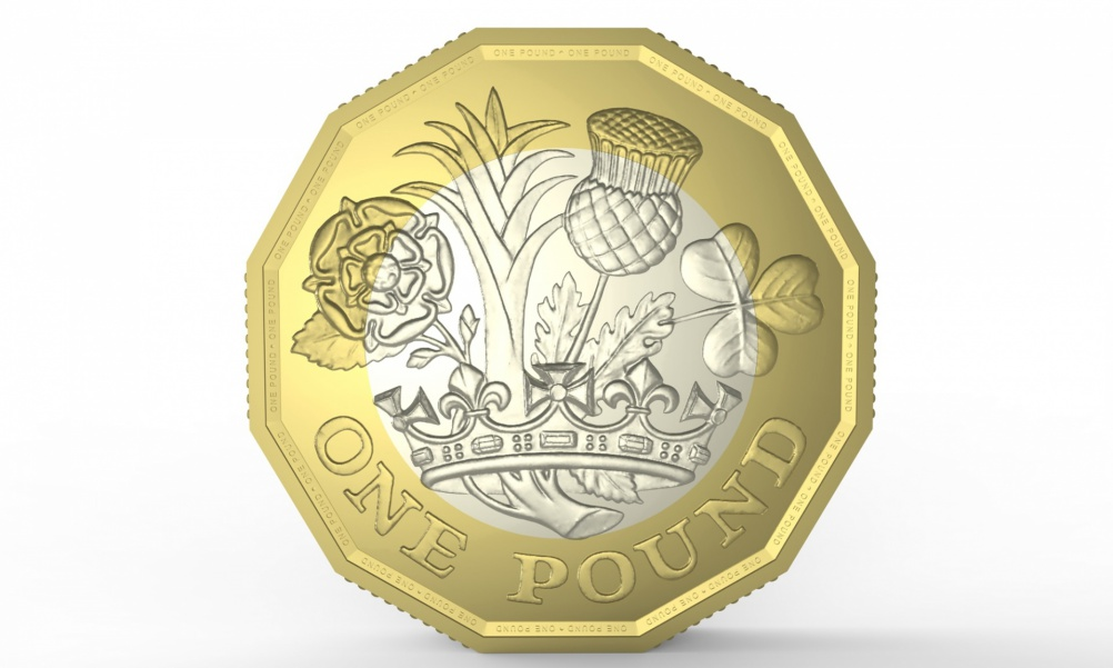 Designs for the back of the new £1 coin, by 15-year-old schoolboy David Pearce
