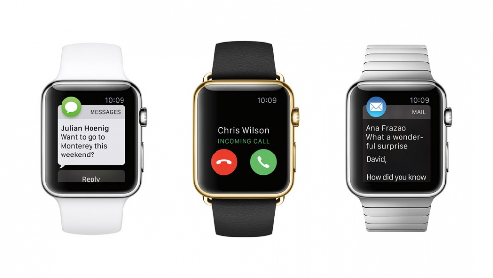 Designs for the Apple Watch, released earlier this month