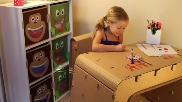Coloring on Kids Imagination Desk