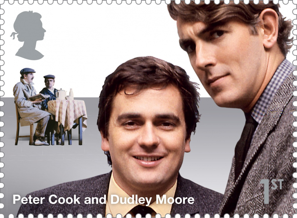 Comedy_Greats_Peter_Cook_and_Dudley_Moore_Stamp_400
