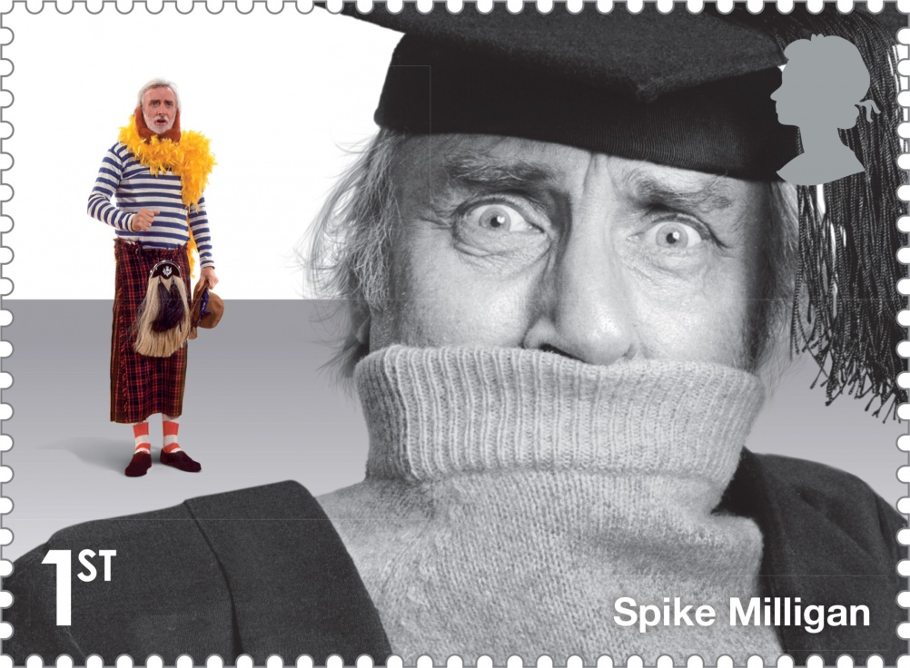Comedy_Greats_Spike_Milligan_Stamp_400