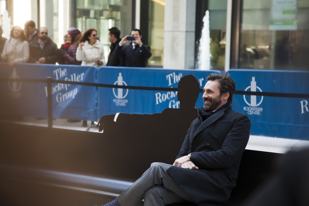 Mad Men star John Hamm takes to the bench