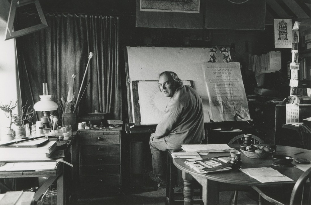 Michael Renton at home