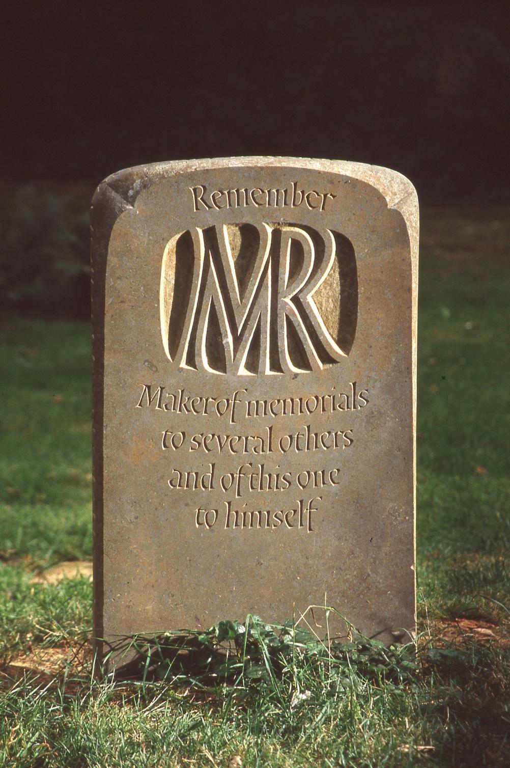 Michael Renton's memorial stone (front)