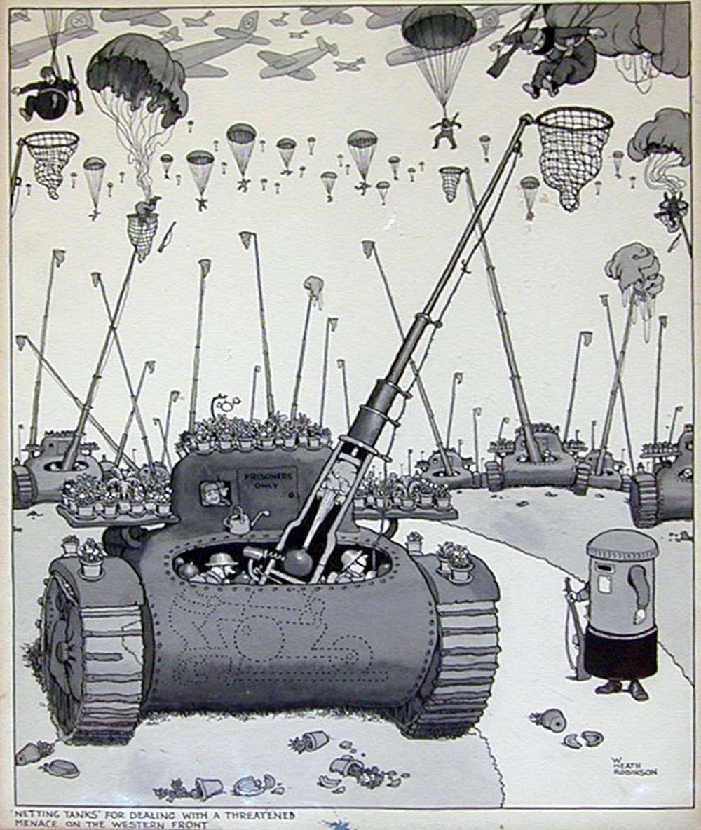 Netting Tanks on the Western Front - William Heath Robinson