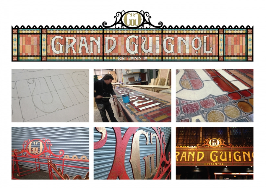 Canopy design for the the West End's Grand Guignol theatre
