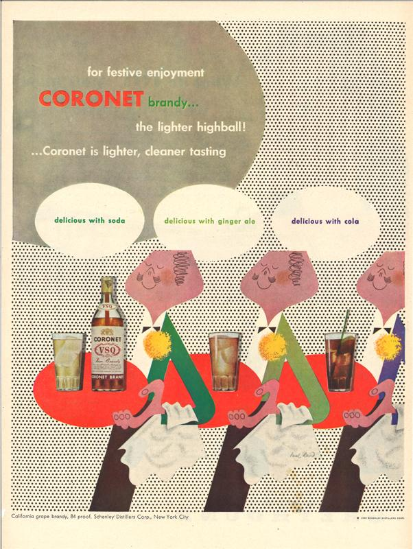 Coronet Brandy magazine advertisement, 1948. From private collection