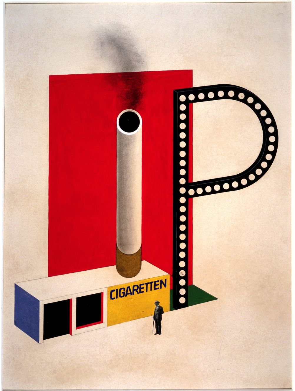 Herbert Bayer, Design for a Cigarette Pavilion, 1924