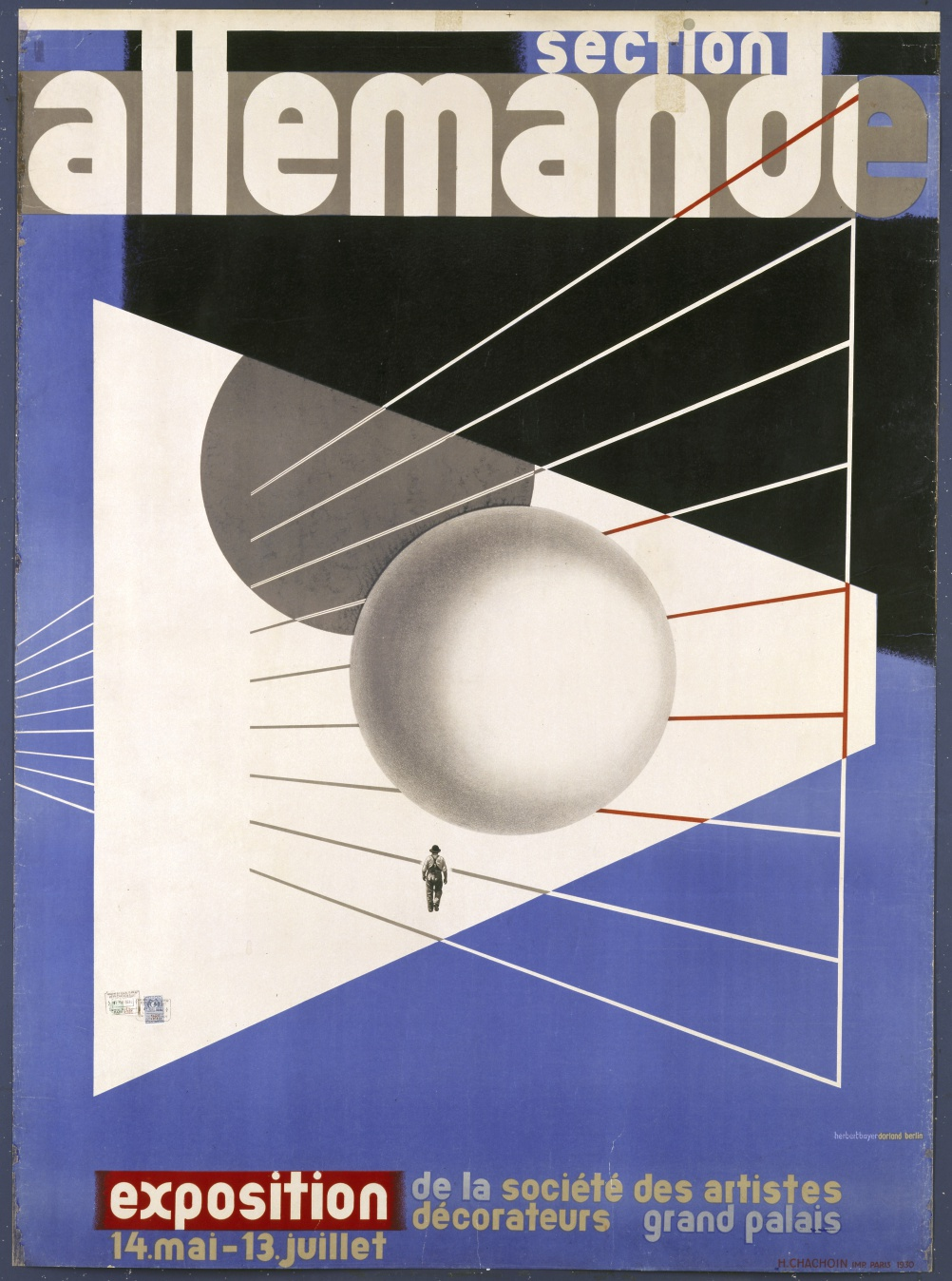"Herbert Bayer, ""section allemande"" Poster for the Werk-bund Exhibition in Paris, 1930"