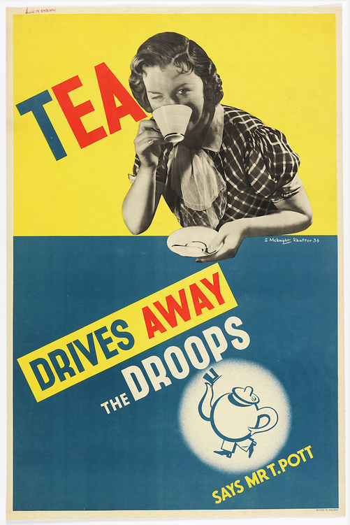Tea Drives Away the Droops by Edward McKnight Kauffer, 1936