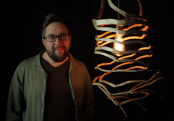 Gavin Munro and a grown pendant lamp