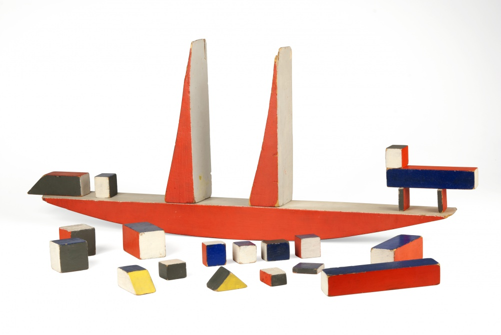 New Object: Alma Buscher, Large Ship Building Blocks, 1923