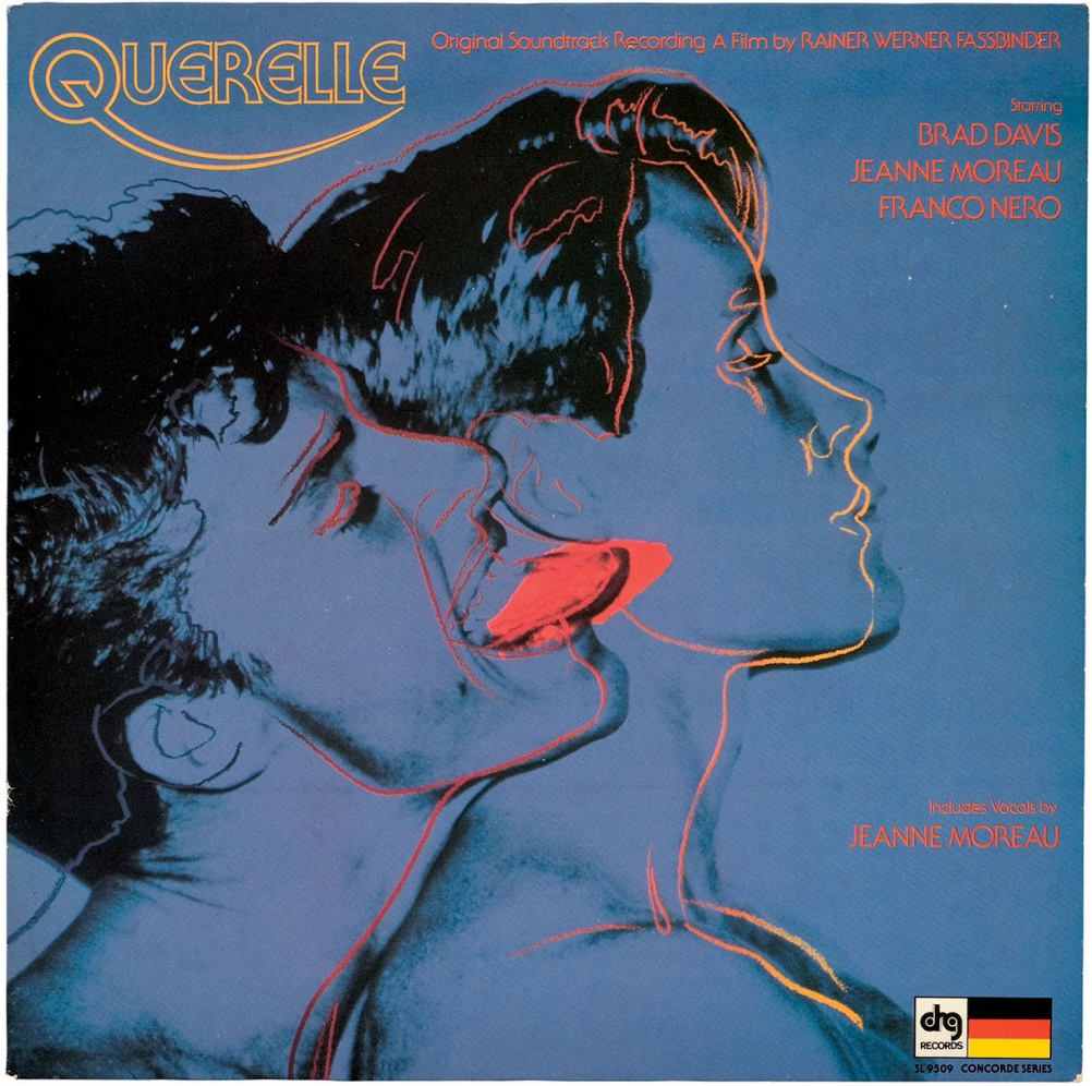 Querelle, 1982. Original soundtrack recording for the film Querelle by Rainer Werner Fassbinder. © The Andy Warhol Foundation for the Visual Arts, Inc.