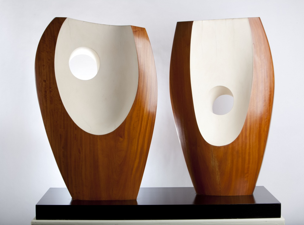 Barbara Hepworth, Two Forms with White (Greek), 1963. The Hepworth Wakefield, © Bowness, Hepworth Estate. Photography by Jonty Wilde