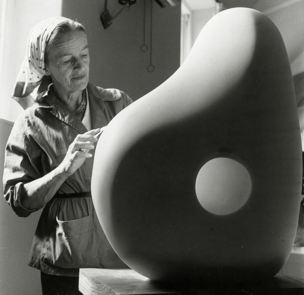 Barbara Hepworth at Trewyn Studio, 1961. Photograph by Rosemary Mathews, Courtesy Bowness, Hepworth Estate