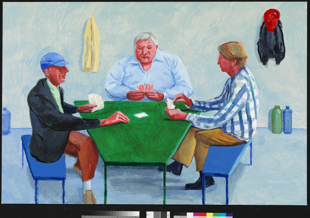 David Hockney, Card Players #1, 2014