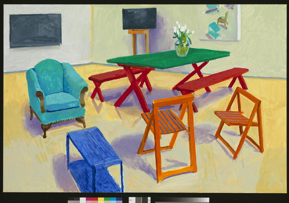 David Hockney, Studio Interior #2, 2014