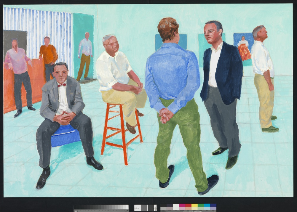 David Hockney, The Group V, 6-11 May, 2014