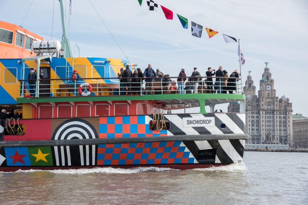 Peter Blake's Everybody Razzle Dazzle ferry. Photo: Mark McNulty.