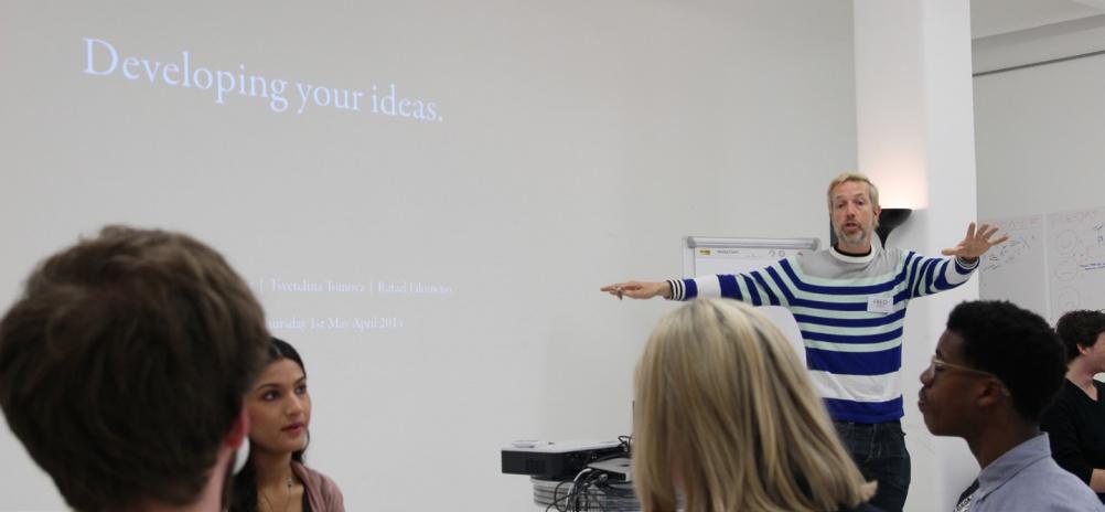 Fred Deakin teaching