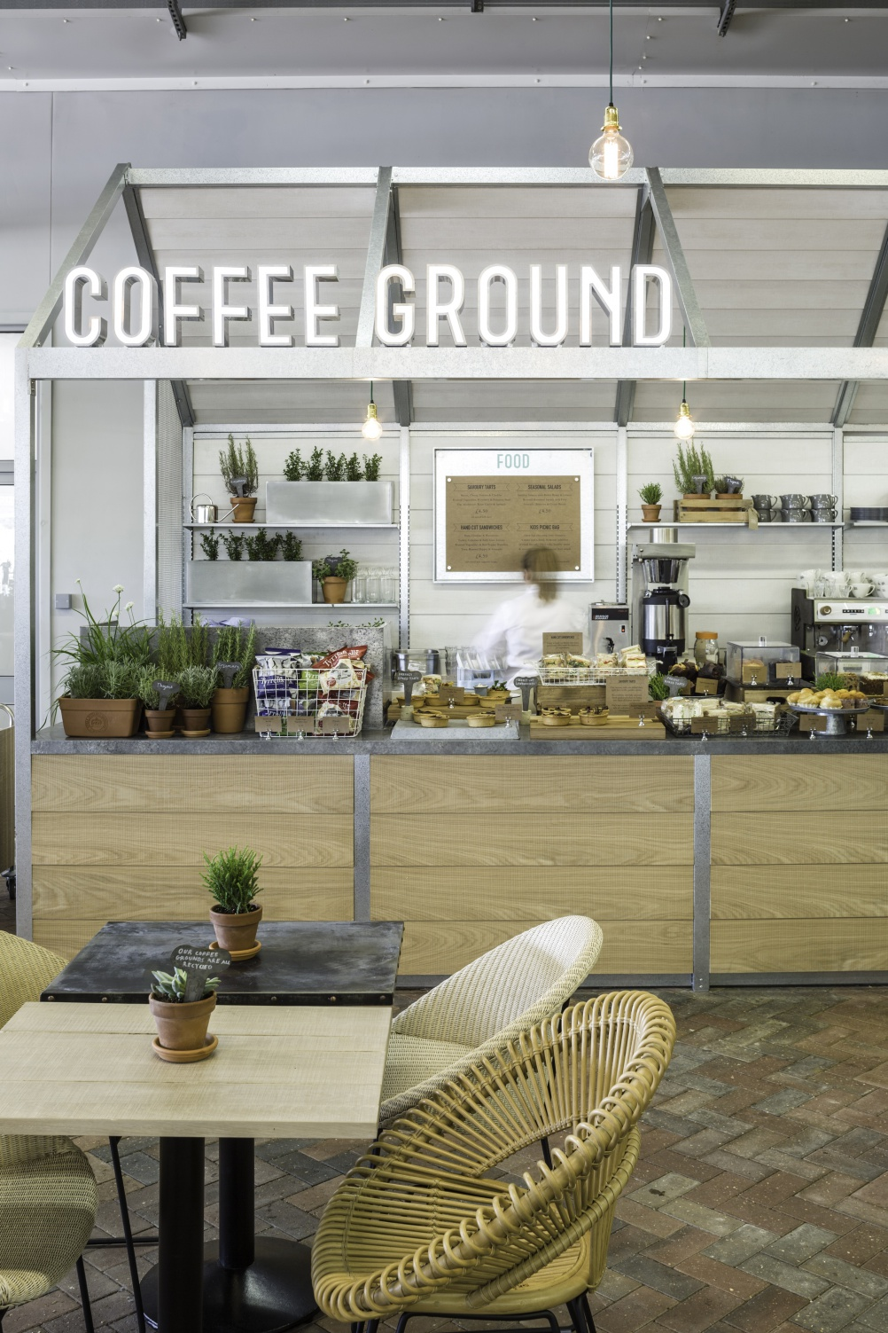 Coffee Ground cafés, by Kiwi & Pom