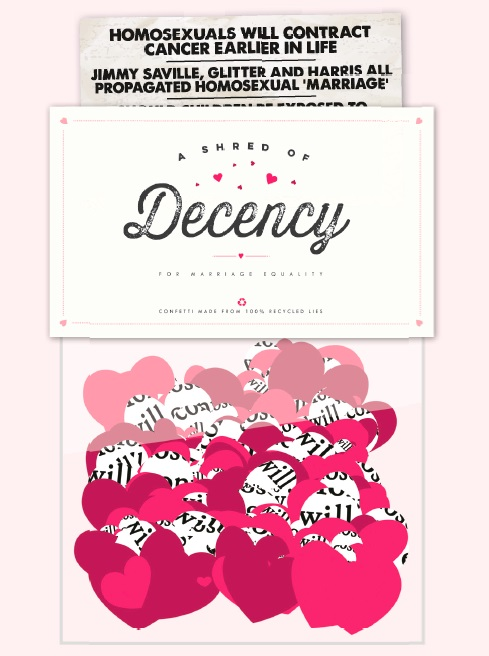 Shred of Decency Campaign Image