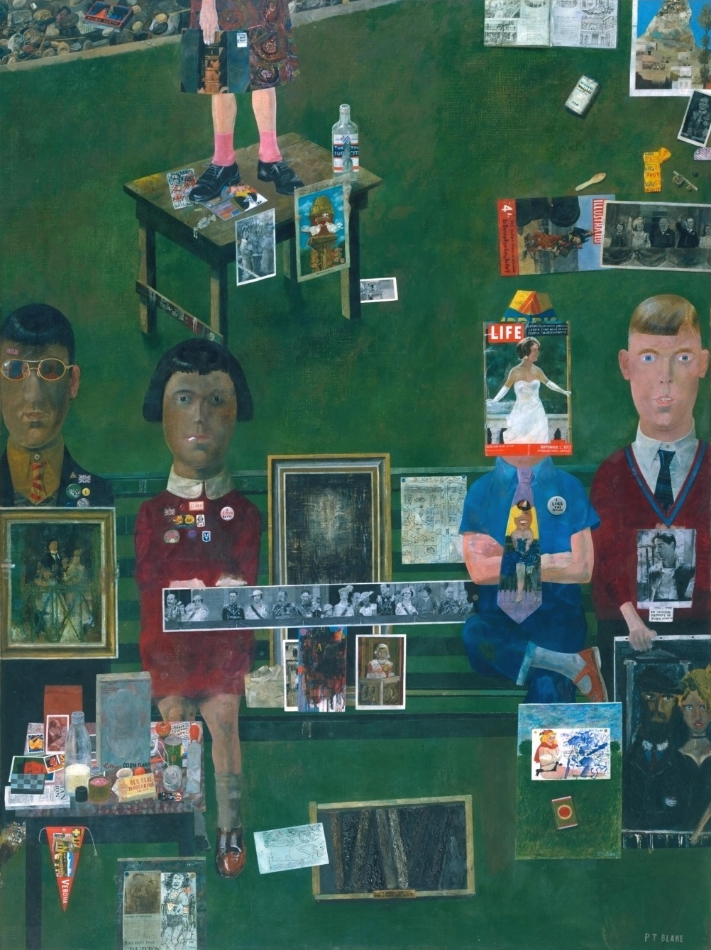 Peter Blake On the Balcony 1955-7 Oil paint on canvas 1213x908mm Tate Presented by the Contemporary Art Society 1963 © Peter Blake 2015. All rights reserved, DACS