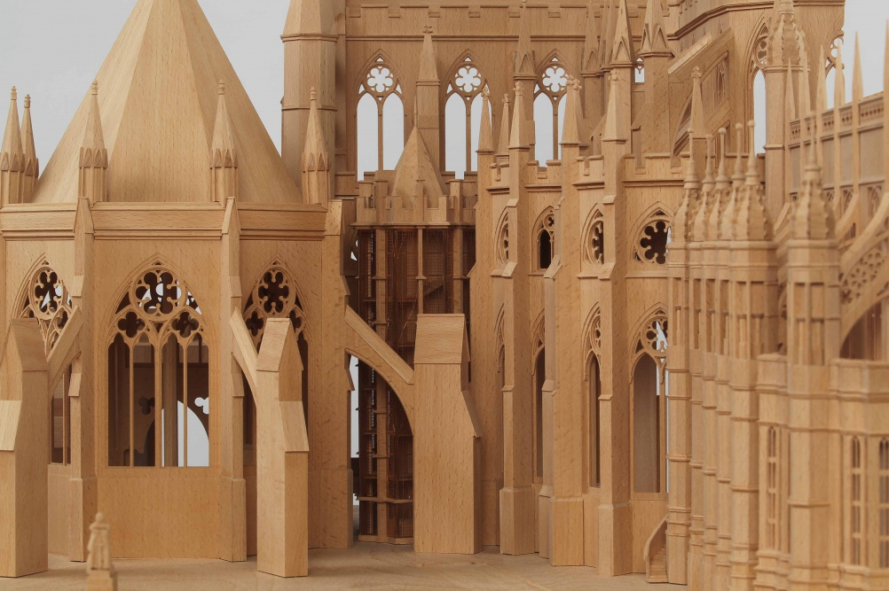 Model showing the new tower. Model by Hammell-Armiger, image by Andrew Dunsmore/Westminster Abbey