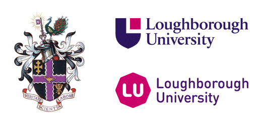 From left to right: the university's crest of arms (1909), shield logo (1996) and new octagon logo (2015).