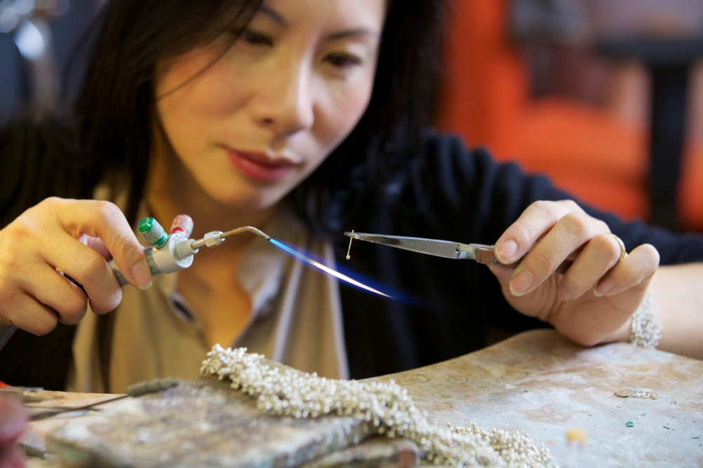 Yen Duong in the Studio. Image: Sophie Mutevelian