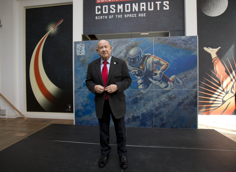 Cosmonaut Alexei Leonov at the Science Museum