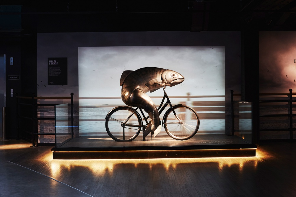 GUINNESS STOREHOUSE fish on a bicyle