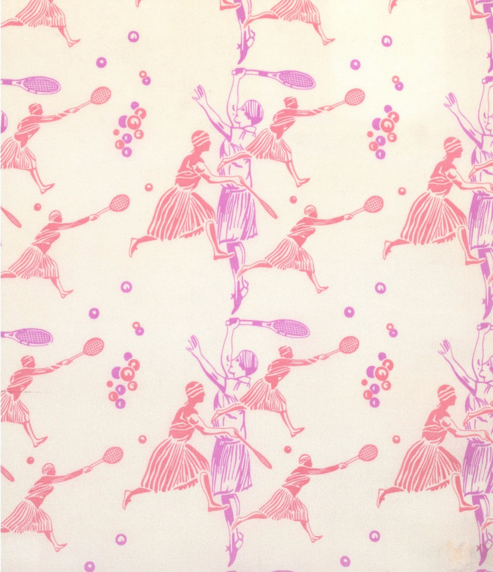 Helen Wills, Textile design, printed silk crepe de Chine, 1927, given by the Stehli Silks Corporation, Courtesy Victoria & Albert Museum