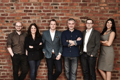 The Market Creative appointments L-R: Stuart Keates, creative artworker, Lauren Thomas, junior account executive, Shaun Watson, account manager, Jeff Dillon, senior art director, James Kay, account manager, Nikita Lewis, business development manager