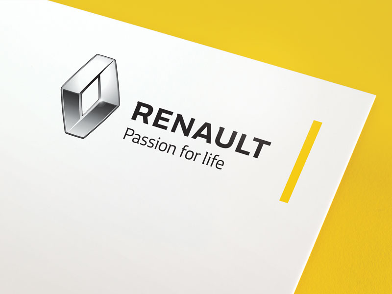 The new Renault corporate identity, introduced last month