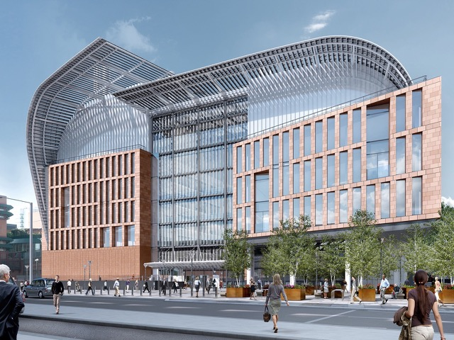 A visualisation of the Francis Crick Institute medical research centre